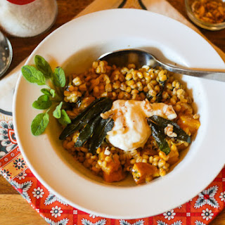 Barley Risotto With Golden Beets, Soft Egg, & Sage Browned Butter