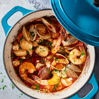 Seafood Bake With Feta.