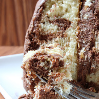 The Best Marble Cake with Chocolate Buttercream.