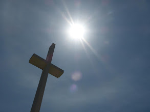 Photo: Cross and the light from the skies.