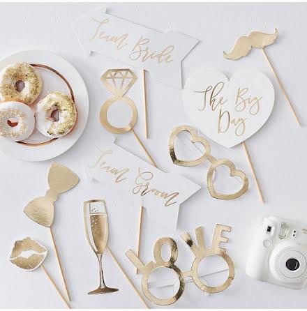 Photobooth-kit - Gold wedding