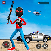 US Stickman Panther Robot Superhero Crime Mafia