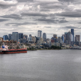 Seattle July 16, 2016 by Dennis McClintock - City,  Street & Park  Skylines ( washington state, seattle skyline, seattle wa, seattle, metropolis skylines contest,  )