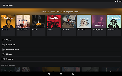 Spotify Music Screenshots
