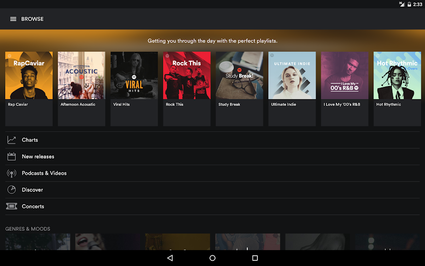 Screenshot 5 for Spotify's Android app'