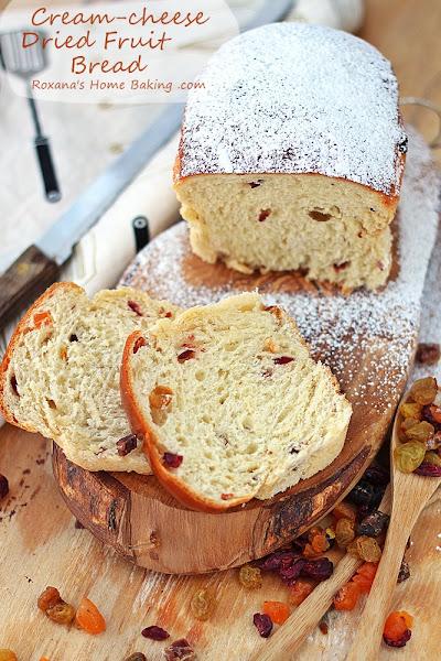 Photo: Cream cheese dried fruit bread [recipe]http://www.roxanashomebaking.com/cream-cheese-dried-fruit-bread-recipe-25recipestoxmas/ #25recipestoxmas  #holidaybaking  #yeastbread