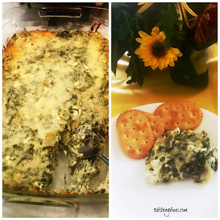 Warm, Delicious, & Healthy Spinach and Artichoke Dip Appetizer