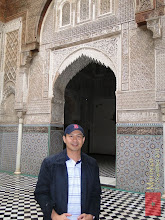 Photo: at the Al-Attarine Madrasa in Fes