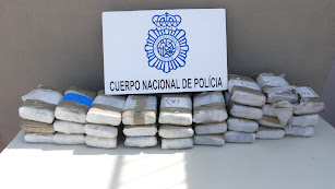 Droga incautada por la Policía Nacional en Almería.