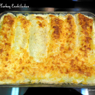 Cheesy Turkey or Chicken Enchiladas