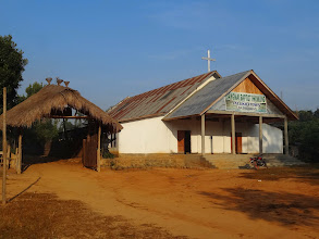 Photo: We departed Tening town and traveled for four hours once again on these mountainous dirt roads arriving at Jeluki village. That evening we had a service at this Liangmai church. We also spend the night here.