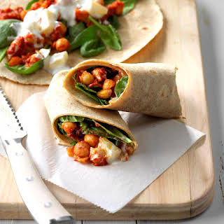 Indian Spiced Chickpea Wraps.