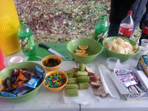 Photo: And also thanks for the great food (this station had dark chocolate marsh mellows!)