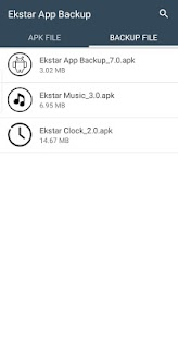 Ekstar App Backup Screenshot