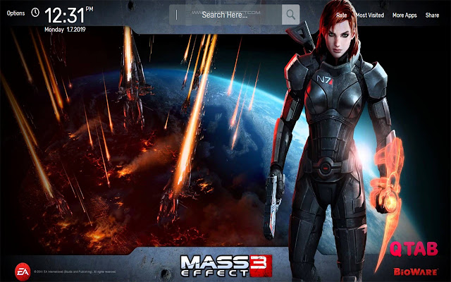 Mass Effect 3 Wallpapers HD Theme