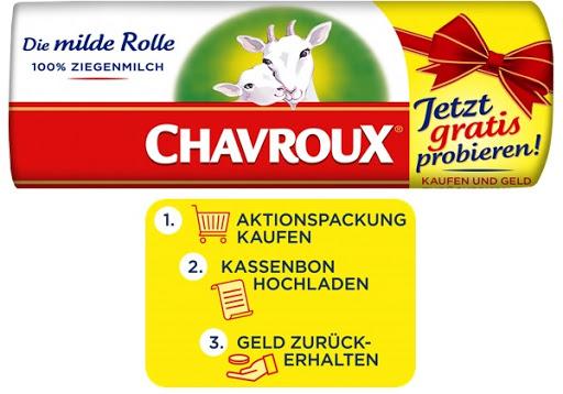 """Bild für Chavroux Weichkäse """"Die milde Rolle"""" gratis testen"""