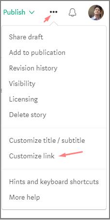 customize link