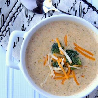 Crockpot Broccoli Cheddar Soup.