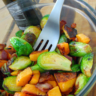 Bacon, Brussels Sprouts and Butternut Squash Salad