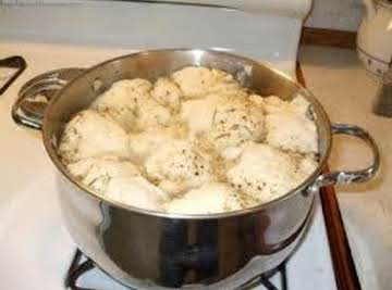 Old Time Chicken with Bisquick Dumplings