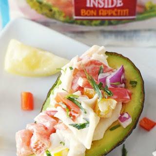 Tarragon Crab Salad Stuffed Avocados.