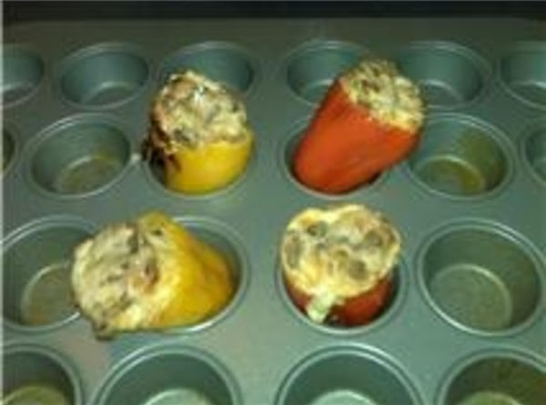 Stuff into your peppers. Note: the best way I noticed to cook these is...