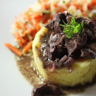 Beef Kidneys in Wine Sauce.