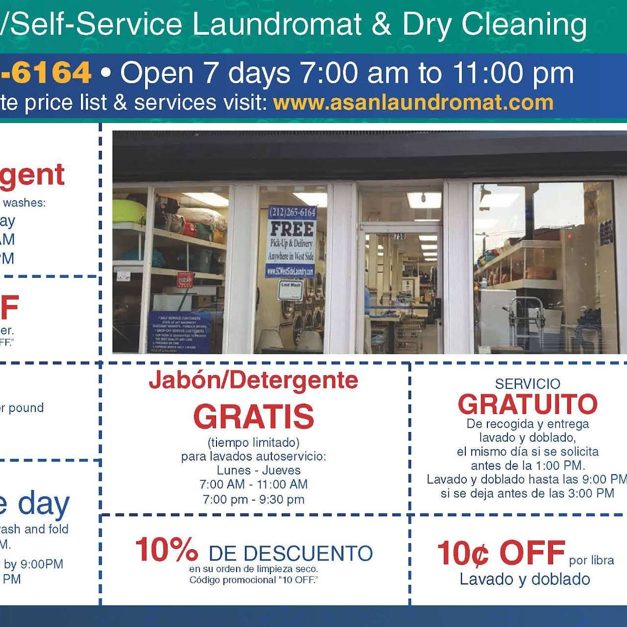 Asan Laundromat Dry Cleaning Full Self Service