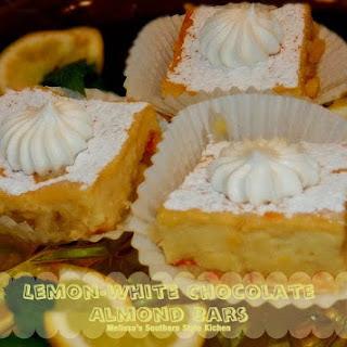 Lemon White Chocolate Almond Bars