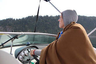 Photo: It gets cold on the water.