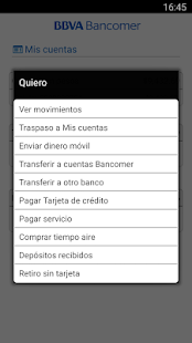 Bancomer móvil Screenshot 3