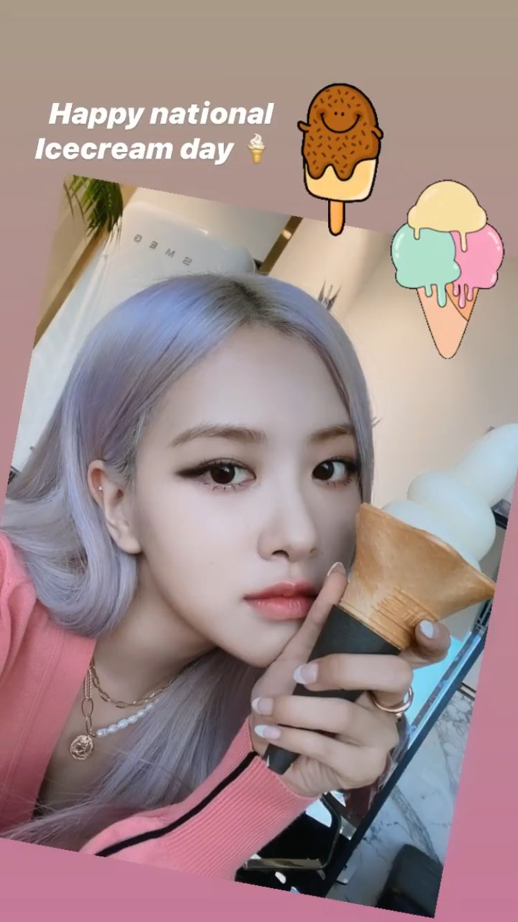 blackpink rose ice cream