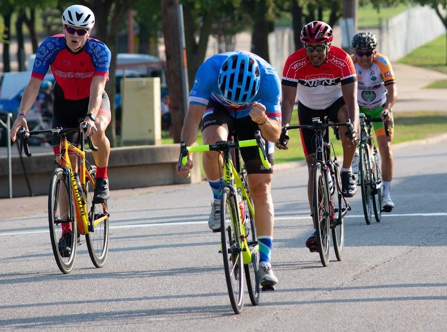 Winner by Bert Templeton - Sports & Fitness Cycling ( dallas, cyclist, racing, race, richardson, races, cycling, winner cycling cyclist race races racing fist pump dallas richardson texas, texas )