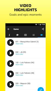 Scores & Video – Soccer results, goal, table live- screenshot thumbnail