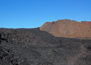Photo: This unnamed cone is  surrounded by lava ...