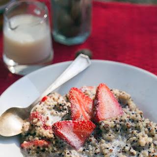 Strawberries and Cream Breakfast Quinoa.