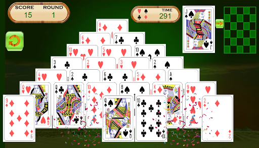 Pyramid Solitaire - Math Fun. - screenshot