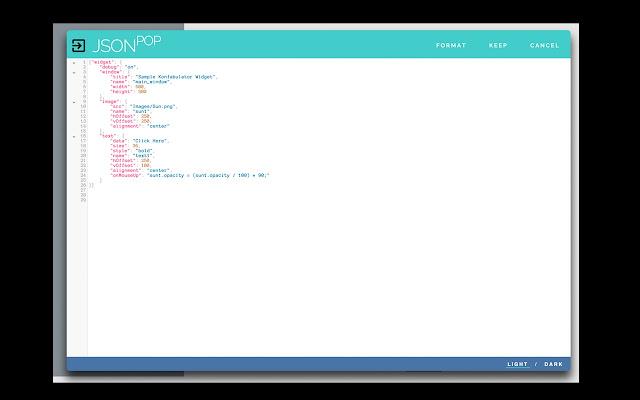 JSONpop - Textarea JSON editor