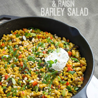 Spiced Raisin and Pine Nut Barley Salad