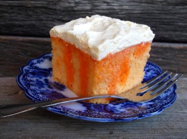 Orange Dreamsicle Refrigerator Cake Recipe