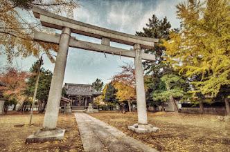 Photo: A stone torii gate at a small shrine in Matsudo, Japan