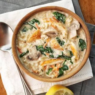 Cream of Chicken and Rice Florentine