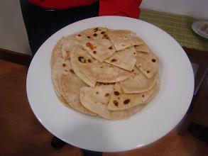 Photo: chappati (pão não levedado na grelha),
