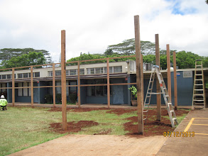 Photo: Are we ready for the 12-foot black barriers?  It'll be right up against the classrooms.