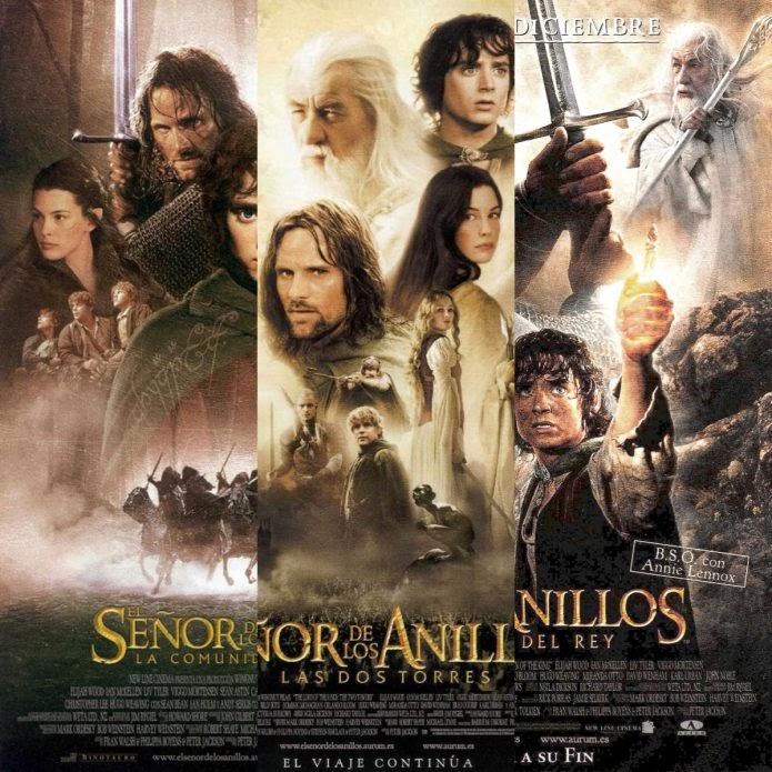 Poster de la trilogía de El señor de los anillos