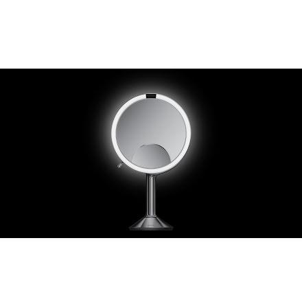 Sensorstyrd Sminkspegel 20 cm med Belysning Simplehuman 1x,/5x/10x förstoring, Reglerbart ljus via Wi-Fi