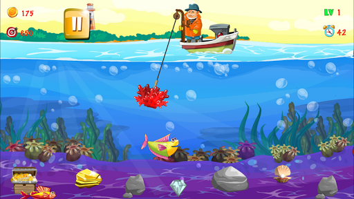 Gold miner, Fishing, gold rush apkmr screenshots 14