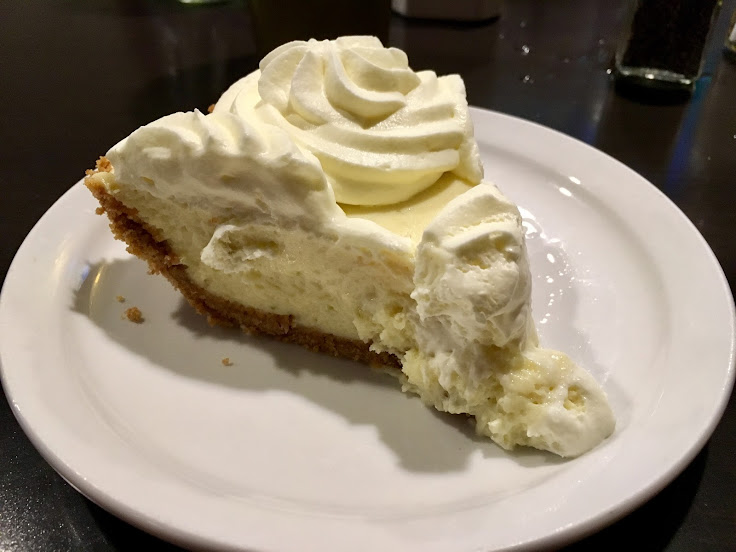 Key Lime Pie at the Lost Lake Cafe & Lounge.