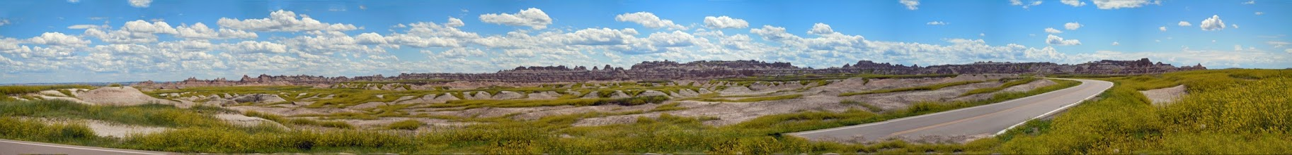 Photo: Panoramic view from the North East entrance to the Badlands National Park