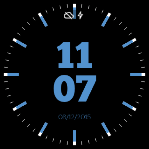Electric Neon Watch Face